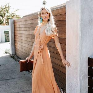 Vici Dolls Short Sleeve Bardot Wrap Dress